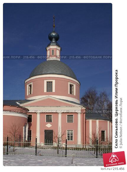 Купить «Село Синьково. Церковь Илии Пророка», фото № 215456, снято 12 февраля 2008 г. (c) Julia Nelson / Фотобанк Лори