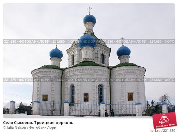 Село Сысоево. Троицкая церковь, фото № 221680, снято 12 февраля 2008 г. (c) Julia Nelson / Фотобанк Лори
