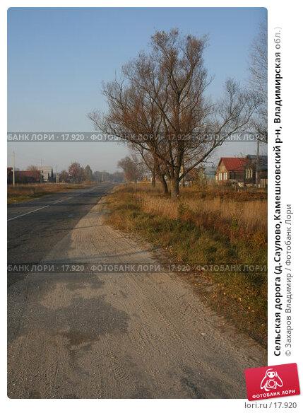 Сельская дорога (д.Саулово,Камешковский р-н, Владимирская обл.), фото № 17920, снято 2 октября 2005 г. (c) Захаров Владимир / Фотобанк Лори