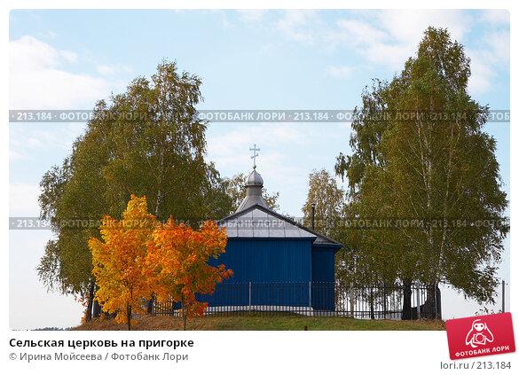 Сельская церковь на пригорке, эксклюзивное фото № 213184, снято 26 сентября 2007 г. (c) Ирина Мойсеева / Фотобанк Лори