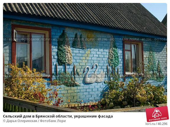 Сельский дом в Брянской области, украшение фасада, фото № 40296, снято 2 октября 2005 г. (c) Дарья Олеринская / Фотобанк Лори