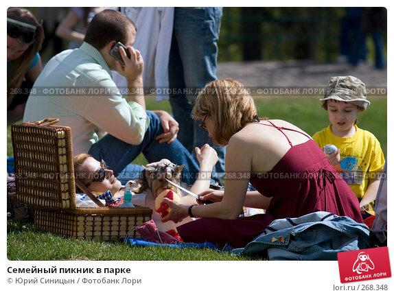 Семейный пикник в парке, фото № 268348, снято 27 апреля 2008 г. (c) Юрий Синицын / Фотобанк Лори