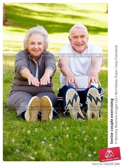 Купить «Senior couple exercising», фото № 24635244, снято 4 мая 2011 г. (c) easy Fotostock / Фотобанк Лори