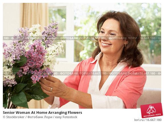 Купить «Senior Woman At Home Arranging Flowers», фото № 16667180, снято 10 августа 2009 г. (c) easy Fotostock / Фотобанк Лори