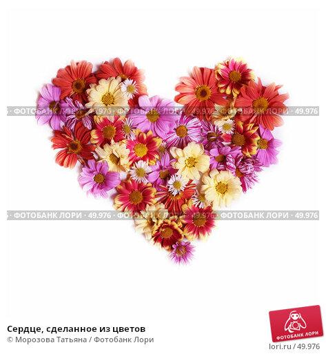 Купить «Сердце, сделанное из цветов», фото № 49976, снято 5 февраля 2007 г. (c) Морозова Татьяна / Фотобанк Лори