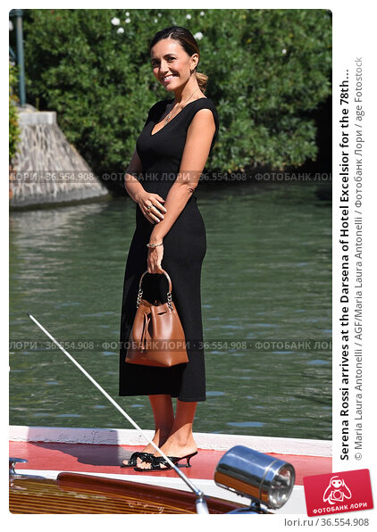 Serena Rossi arrives at the Darsena of Hotel Excelsior for the 78th... Редакционное фото, фотограф Maria Laura Antonelli / AGF/Maria Laura Antonelli / age Fotostock / Фотобанк Лори