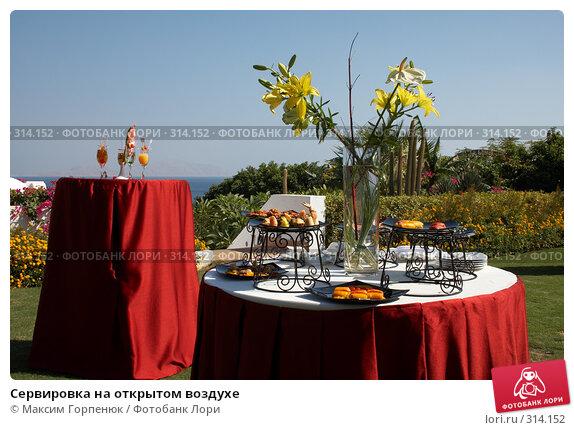 Сервировка на открытом воздухе, фото № 314152, снято 20 ноября 2007 г. (c) Максим Горпенюк / Фотобанк Лори