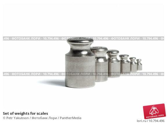 Купить «Set of weights for scales», фото № 10794496, снято 20 февраля 2019 г. (c) PantherMedia / Фотобанк Лори