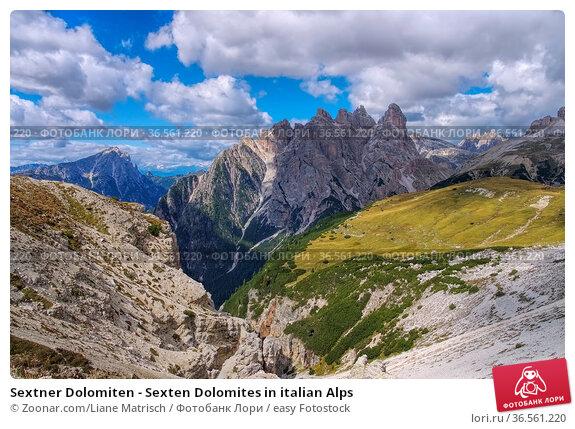 Sextner Dolomiten - Sexten Dolomites in italian Alps. Стоковое фото, фотограф Zoonar.com/Liane Matrisch / easy Fotostock / Фотобанк Лори