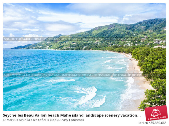 Seychelles Beau Vallon beach Mahe island landscape scenery vacation... Стоковое фото, фотограф Markus Mainka / easy Fotostock / Фотобанк Лори