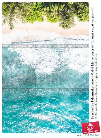 Seychelles Takamaka beach Mahé Mahe portrait format vacation paradise... Стоковое фото, фотограф Markus Mainka / easy Fotostock / Фотобанк Лори