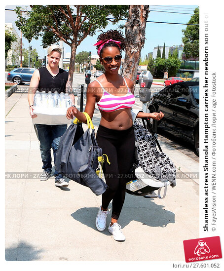 Купить «Shameless actress Shanola Hampton carries her newborn son out of Iron gym in Santa Monica, California after a workout with Celebrity trainer Torri Shack...», фото № 27601052, снято 25 июля 2016 г. (c) age Fotostock / Фотобанк Лори