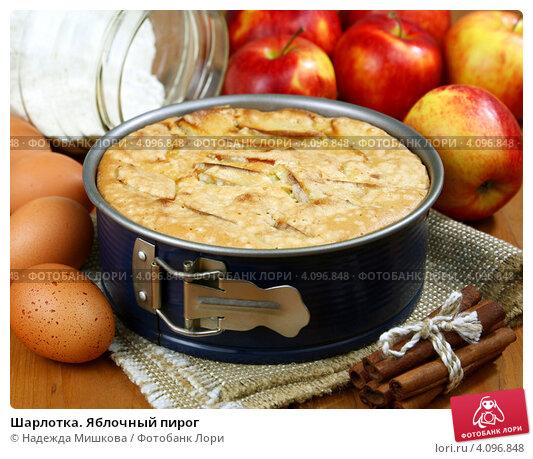 Купить «Шарлотка. Яблочный пирог», фото № 4096848, снято 4 декабря 2012 г. (c) Надежда Мишкова / Фотобанк Лори