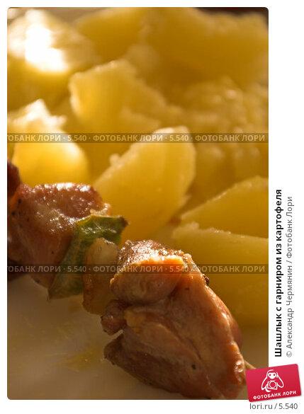 Шашлык с гарниром из картофеля, фото № 5540, снято 17 июля 2006 г. (c) Александр Чермянин / Фотобанк Лори