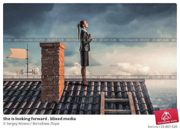 Купить «She is looking forward . Mixed media», фото № 23801520, снято 22 апреля 2019 г. (c) Sergey Nivens / Фотобанк Лори