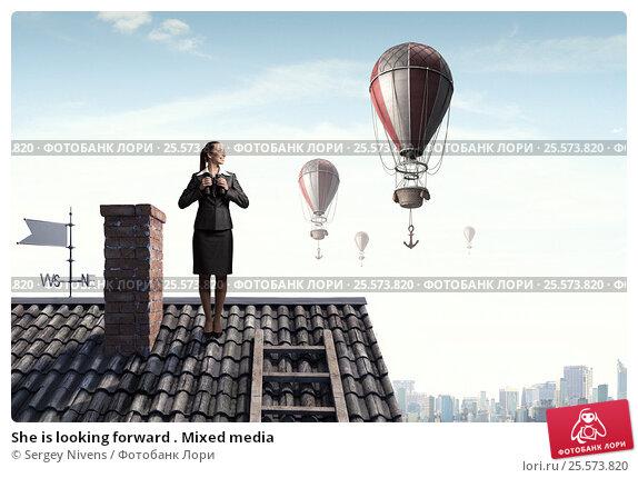 Купить «She is looking forward . Mixed media», фото № 25573820, снято 24 февраля 2011 г. (c) Sergey Nivens / Фотобанк Лори