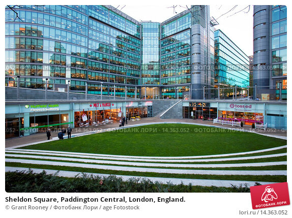 Купить «Sheldon Square, Paddington Central, London, England.», фото № 14363052, снято 19 ноября 2013 г. (c) age Fotostock / Фотобанк Лори