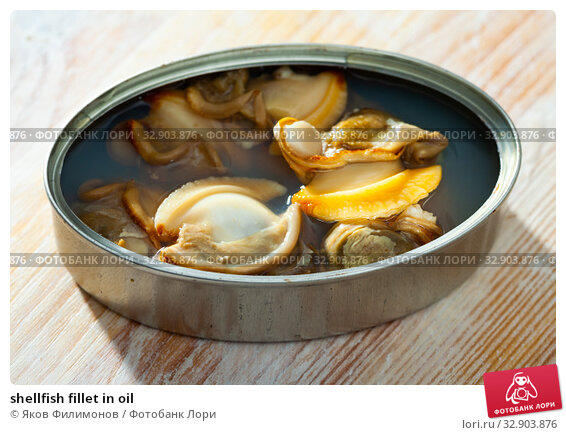 shellfish fillet in oil. Стоковое фото, фотограф Яков Филимонов / Фотобанк Лори