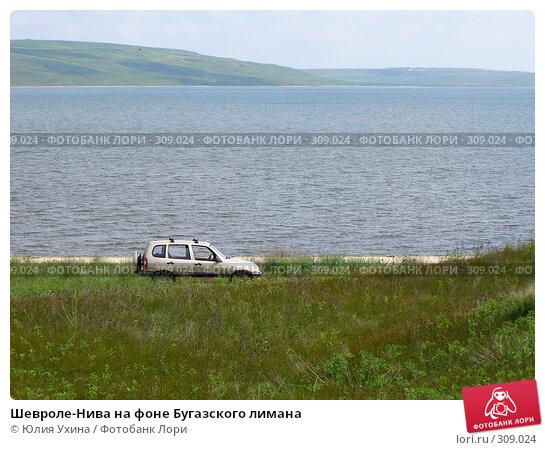 Шевроле-Нива на фоне Бугазского лимана, фото № 309024, снято 25 мая 2008 г. (c) Юля Ухина / Фотобанк Лори