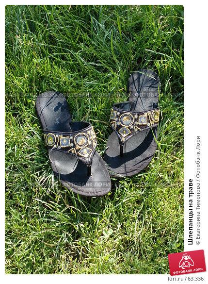 Шлепанцы на траве, фото № 63336, снято 18 июля 2007 г. (c) Екатерина Тимонова / Фотобанк Лори