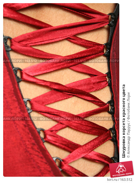Купить «Шнуровка корсета красного цвета», фото № 163512, снято 26 июля 2007 г. (c) Александр Паррус / Фотобанк Лори