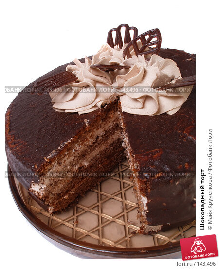 Шоколадный торт, фото № 143496, снято 27 октября 2007 г. (c) Майя Крученкова / Фотобанк Лори