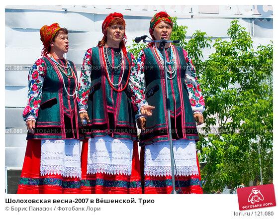 Купить «Шолоховская весна-2007 в Вёшенской. Трио», фото № 121080, снято 25 мая 2007 г. (c) Борис Панасюк / Фотобанк Лори