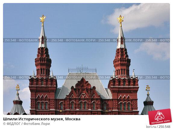 Шпили Исторического музея, Москва, фото № 250548, снято 6 апреля 2008 г. (c) ФЕДЛОГ.РФ / Фотобанк Лори
