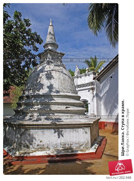 Шри Ланка. Ступа в храме., фото № 202948, снято 7 января 2008 г. (c) GrayFox / Фотобанк Лори