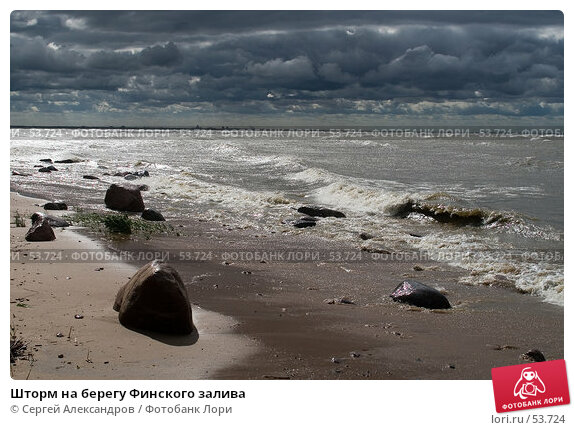 Шторм на берегу Финского залива, фото № 53724, снято 15 июня 2007 г. (c) Сергей Александров / Фотобанк Лори