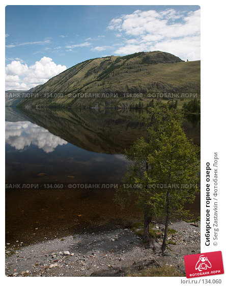 Купить «Сибирское горное озеро», фото № 134060, снято 3 июля 2006 г. (c) Serg Zastavkin / Фотобанк Лори
