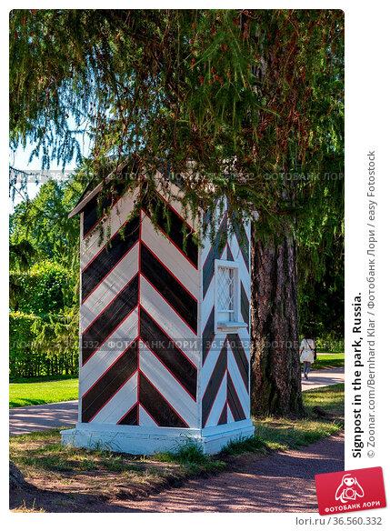 Signpost in the park, Russia. Стоковое фото, фотограф Zoonar.com/Bernhard Klar / easy Fotostock / Фотобанк Лори