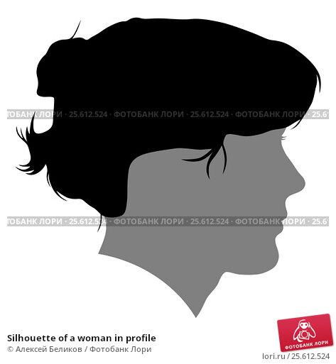 Silhouette of a woman in profile. Стоковая иллюстрация, иллюстратор Алексей Беликов / Фотобанк Лори
