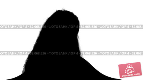 Silhouette Pretty little girl sitting with book and reading track matte. Стоковое видео, видеограф Vasily Alexandrovich Gronskiy / Фотобанк Лори