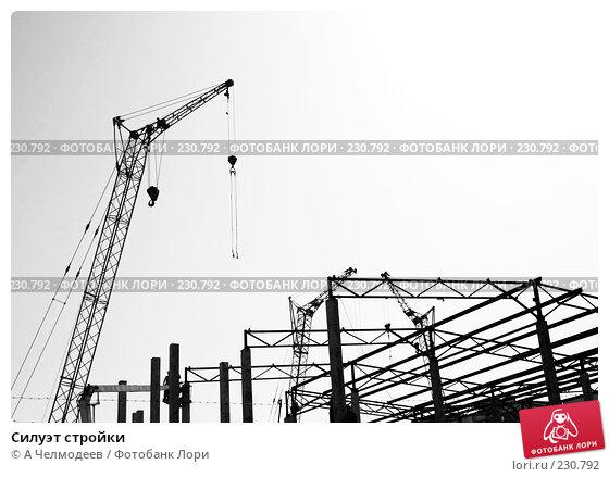 Купить «Силуэт стройки», фото № 230792, снято 31 мая 2007 г. (c) A Челмодеев / Фотобанк Лори