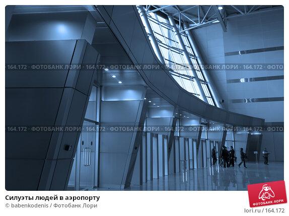 Силуэты людей в аэропорту, фото № 164172, снято 11 сентября 2007 г. (c) Бабенко Денис Юрьевич / Фотобанк Лори