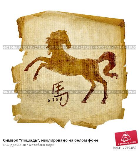 """Символ """"Лошадь"""", изолировано на белом фоне, иллюстрация № 219032 (c) Андрей Зык / Фотобанк Лори"""