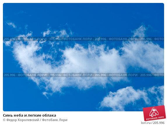 Синь неба и легкие облака, фото № 205996, снято 15 февраля 2008 г. (c) Федор Королевский / Фотобанк Лори