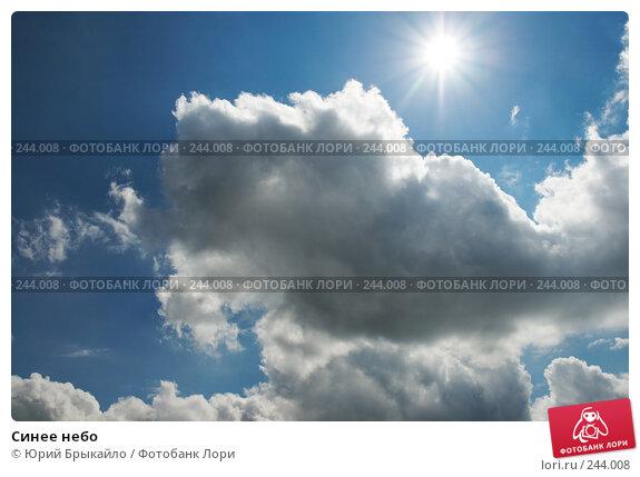 Синее небо, фото № 244008, снято 2 сентября 2007 г. (c) Юрий Брыкайло / Фотобанк Лори
