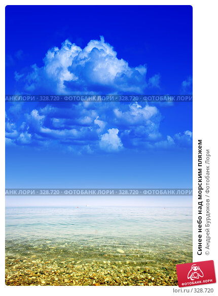 Синее небо над морским пляжем, фото № 328720, снято 3 июня 2008 г. (c) Андрей Бурдюков / Фотобанк Лори