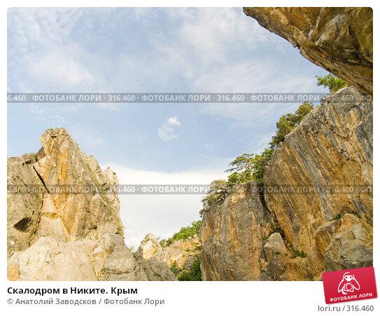 Скалодром в Никите. Крым, фото № 316460, снято 31 мая 2005 г. (c) Анатолий Заводсков / Фотобанк Лори