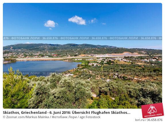Skiathos, Griechenland - 6. Juni 2016: Übersicht Flughafen Skiathos... Стоковое фото, фотограф Zoonar.com/Markus Mainka / age Fotostock / Фотобанк Лори
