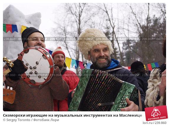 Скоморохи играющие на музыкальных инструментах на Масленице, фото № 239860, снято 9 марта 2008 г. (c) Sergey Toronto / Фотобанк Лори