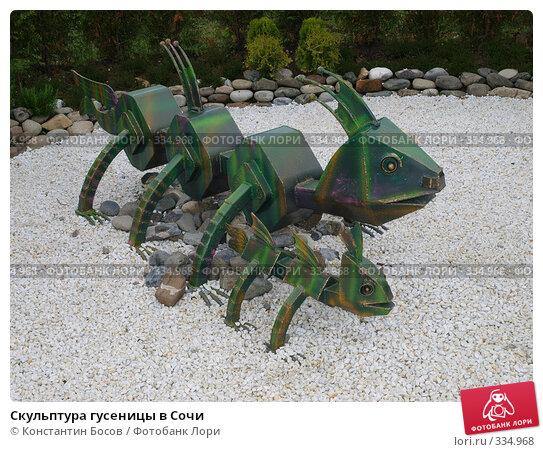 Скульптура гусеницы в Сочи, фото № 334968, снято 21 августа 2017 г. (c) Константин Босов / Фотобанк Лори