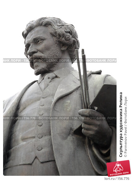 Скульптура художника Репина, фото № 156776, снято 21 декабря 2007 г. (c) Parmenov Pavel / Фотобанк Лори