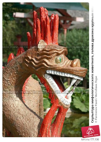 Скульптура мифологического животного, голова дракона крупным планом, фото № 77136, снято 25 августа 2007 г. (c) Parmenov Pavel / Фотобанк Лори