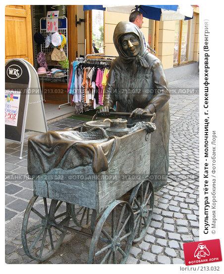 Скульптура тёте Кате - молочнице, г. Секешфехервар (Венгрия), фото № 213032, снято 25 апреля 2017 г. (c) Мария Коробкина / Фотобанк Лори