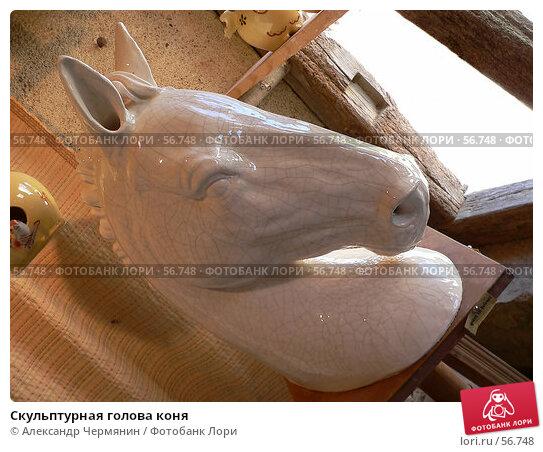 Скульптурная голова коня, фото № 56748, снято 16 августа 2005 г. (c) Александр Чермянин / Фотобанк Лори