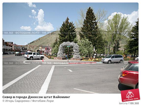 Сквер в городе Джексон штат Вайоминг, фото № 188368, снято 18 мая 2007 г. (c) Игорь Сидоренко / Фотобанк Лори