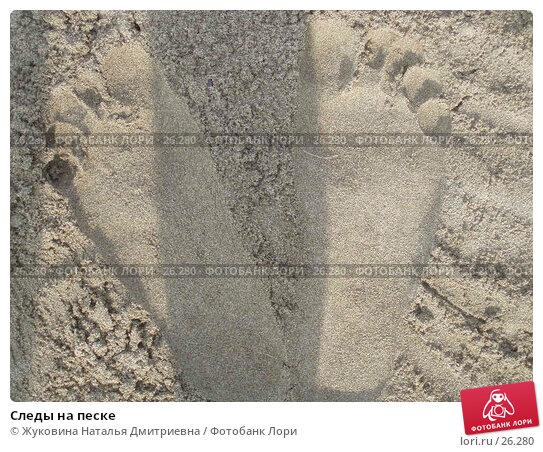Следы на песке, фото № 26280, снято 20 июля 2005 г. (c) Жуковина Наталья Дмитриевна / Фотобанк Лори